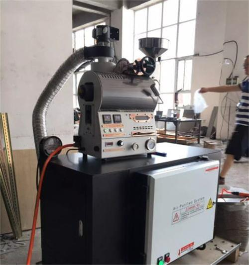 white 600g coffee roaster with air cleaner