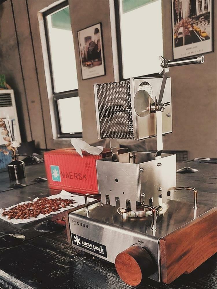 hand cranked coffee roaster
